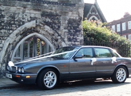 Modern Jaguar XJ6 for weddings in Rochester